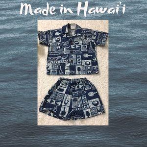 Nui Nalu baby boy Hawai'i culture 2piece outfit